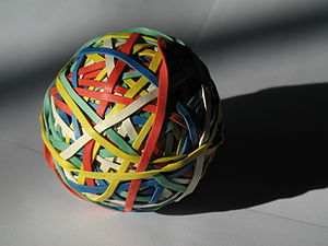 Rubber band ball (this is a new version as the...