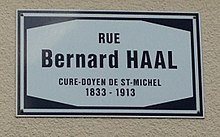 Rue Bernard Haal in Luxembourg-City (sign).jpg