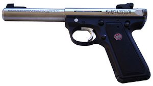 "Ruger MK III - Mark III 22/45 with 5.5"" bull barrel"