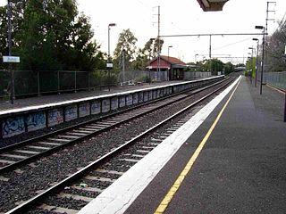 Rushall railway station railway station in Fitzroy North, Melbourne, Victoria, Australia