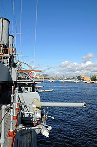 Russian cruiser Aurora moored in Saint Petersburg - Detail - 22 Sept. 2009.jpg