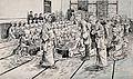 Russo-Japanese War; rows of women in a large warehouse makin Wellcome V0015657.jpg