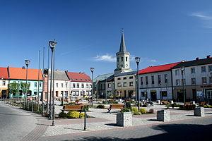 Bieruń - Market square in Bieruń
