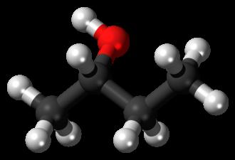 2-Butanol - Image: S Butan 2 ol 3D balls