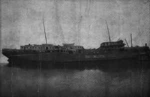 SS Yorktown (1894) - S.S. Powhatan shortly after being brought to the surface.