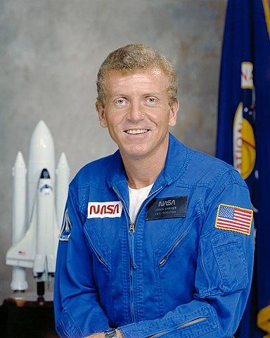 Astronaut Loren Shriver, NASA photo S78-35312 (31 Jan 1978)Source: Wikipedia (www.jsc.nasa.gov unavailable September 2019) 384px-S78-35312_orig.jpg