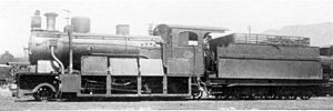 South West African 2-8-0 - Image: SAR 8 coupled tender (2 8 0) ex DSWA