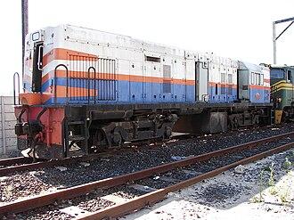 South African Class 31-000 - No. 31-028 (D727) at Bellville Depot, 31 October 2010