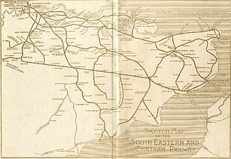 South Eastern and Chatham Railway - Image: SECR 1912 from A&C Black
