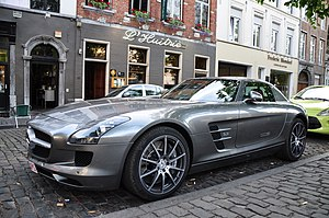 Mercedes AMG SLS in Brussels