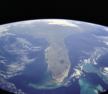 Florida, an example of a peninsula, photo taken during STS-95 STS-95 Florida From Space.jpg