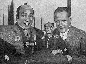 Sergei Eisenstein - With Japanese kabuki actor Sadanji Ichikawa II, Moscow, 1928