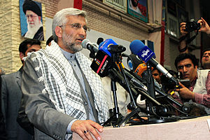 Saeed Jalili - Jalili speaking for his campaign members in Mashhad