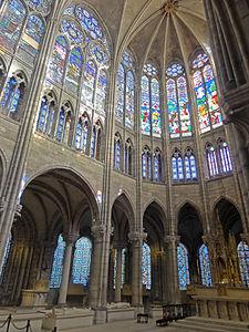 Saint-Denis (93), basilique Saint-Denis, abside 3