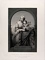 Saint Mary (the Blessed Virgin) with the Christ Child. Engra Wellcome V0034135.jpg