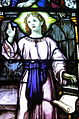 Saint Vincent de Paul Catholic Church (Mount Vernon, Ohio) - stained glass, Christ Child (detail).JPG