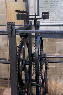modern photograph of Salisbury Cathedral's medieval clock