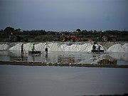 Salt evaporation pond near Tavira Portugal.JPG