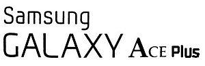 Samsung Galaxy Ace Plus - Image: Samsung Galaxy Ace Plus logo (edit)