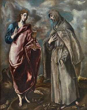 Saint John the Evangelist and Saint Francis of Assisi