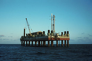La piattaforma di lancio San Marco nel 1974.