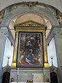 San bartolomeo a monte oliveto, int., altare maggiore, cristo e l'emorroissa del poppi 01.JPG