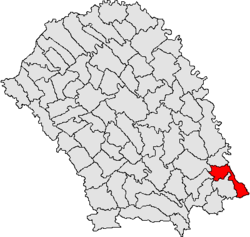 Location of Santa Mare, Botoșani