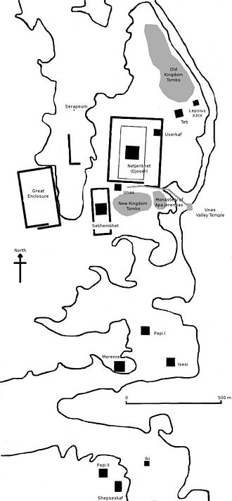 Saqqara - Map of the site
