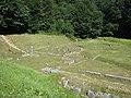 Sarmizegetusa Regia 2011 - Rectangular Andesite Sanctuaries and Small Circular Sanctuary.jpg