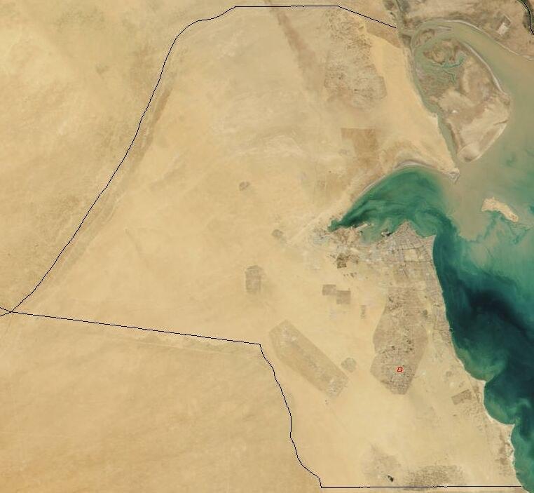 Satellite image of Kuwait in November 2001
