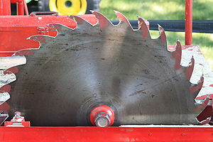 Circular saw - Portable sawmill circular saw blade about 60 cm (2 ft) diameter.