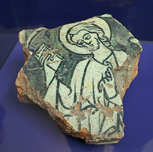 St. Mary's Cathedral, Hamburg - Sherd of Pope Benedict V's cenotaph, Hamburgmuseum.