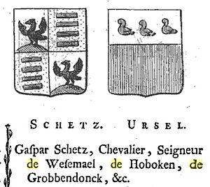 Ursel family - Schetz and Ursel in: Quartiers généalogiques des familles nobles des Pays-Bas.