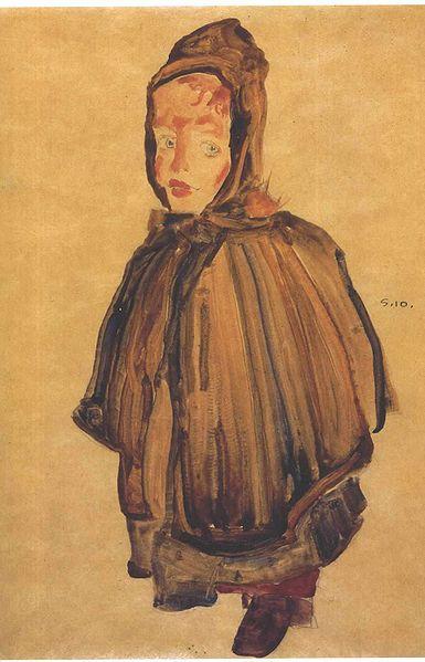 Datoteka:Schiele - Mädchen mit Haube - 1910.jpg