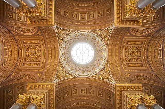Central part of the ceiling of the Galerie des Batailles at the Palace of Versailles.