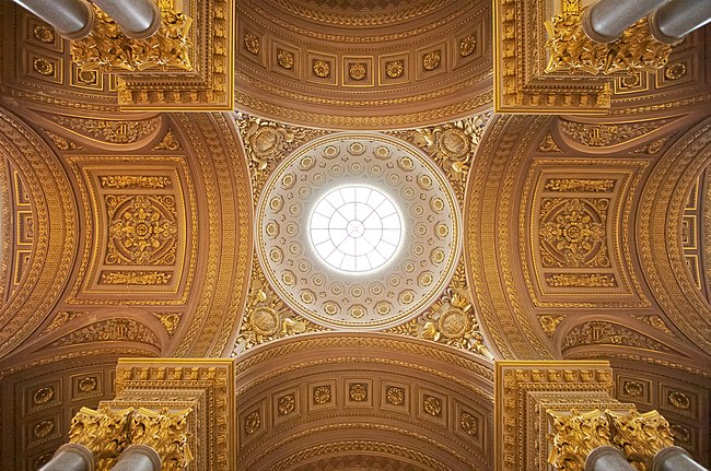 12: Central part of the ceiling of the Galerie des Batailles at the Palace of Versailles. -donald-
