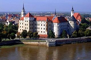 Torgau Town in Saxony, Germany