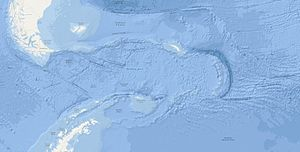 Scotia Plate - Bathymetric map of Scotia Plate