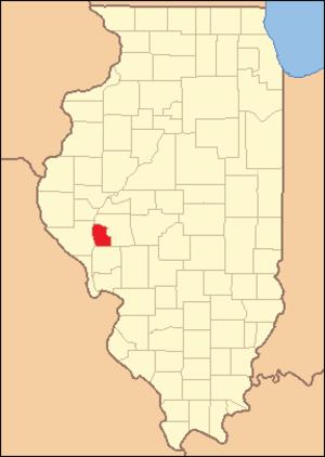 Scott County, Illinois - Image: Scott County Illinois 1839