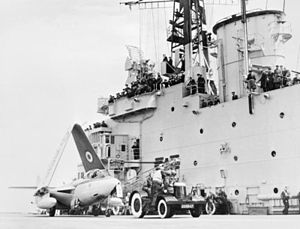 Sea Hawk 803 NAS on HMS Centaur (R06) 1955.jpg