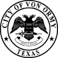 Seal of Von Ormy, Texas.png