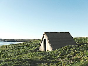 Freshwater West - Seaweed-drying hut on the cliff top