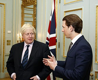 Sebastian Kurz - Kurz with Britain's Foreign Secretary Boris Johnson, 20 March 2017