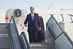 Secretary Kerry Deplanes Upon Arrival at Copenhagen Airport in Kastrup (27636522291).jpg