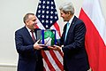 Secretary Kerry Presents Polish Foreign Minister Schetyna With a Signed Boston Celtics Basketball Before Meeting at NATO Headquarters in Belgium (15903894306).jpg