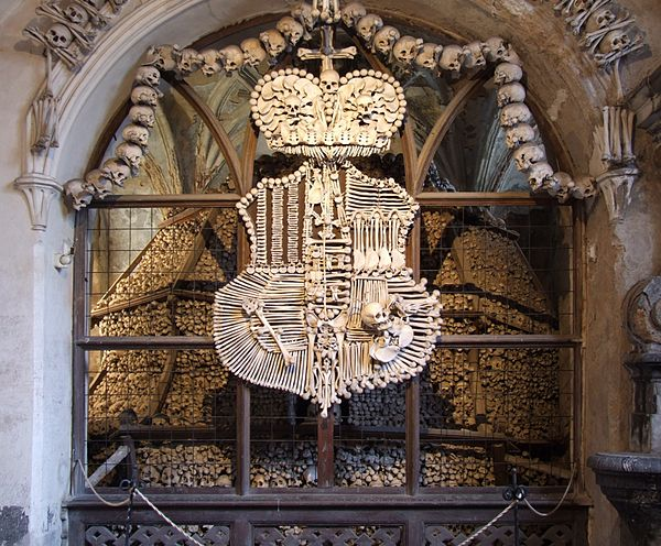 Sedlec Ossuary - the Schwarzenberg coat-of-arms.jpg