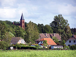 View of Sehlen with its church