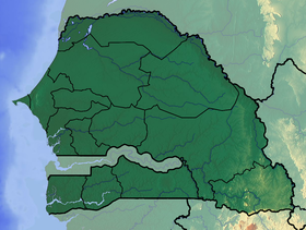 Voir la carte Sénégal topographique