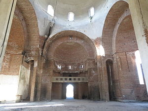 Church of Christ the Saviour, Pristina - The unfinished interior in October 2012