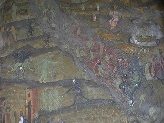 Ion Creangă - Depiction of Hell in an 18th-century Romanian Orthodox mural (Sfântul Elefterie Vechi, Bucharest)